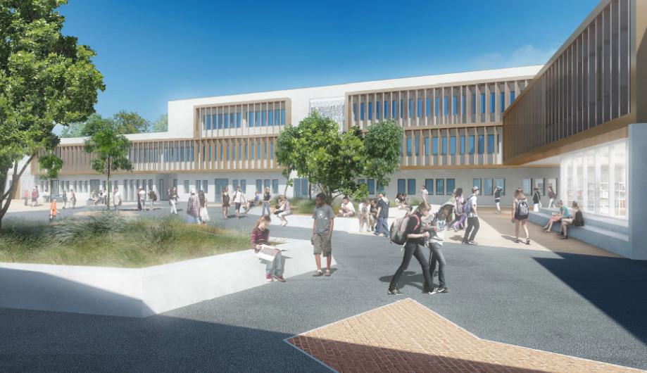 Plan mixité sociale : Visite de presse du chantier du collège de Saint-Simon et bilan du dispositif départemental